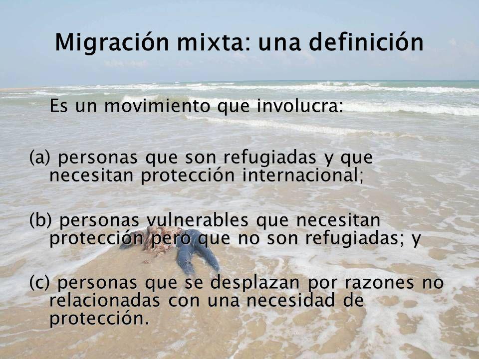Migración mixta: una definición