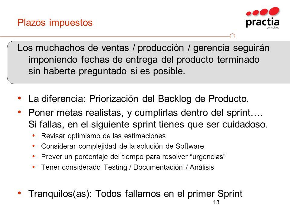 La diferencia: Priorización del Backlog de Producto.