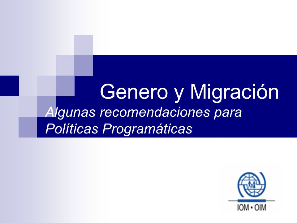 Algunas recomendaciones para Políticas Programáticas