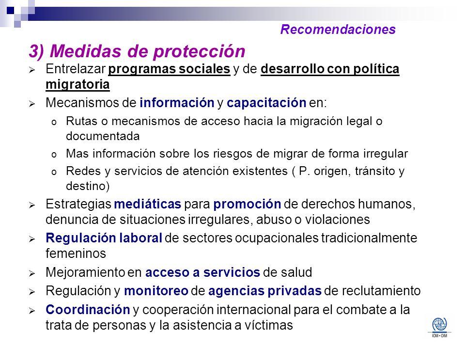 3) Medidas de protección