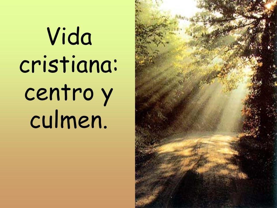Vida cristiana: centro y culmen.