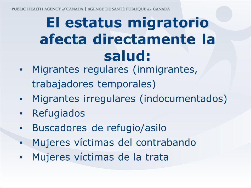 El estatus migratorio afecta directamente la salud: