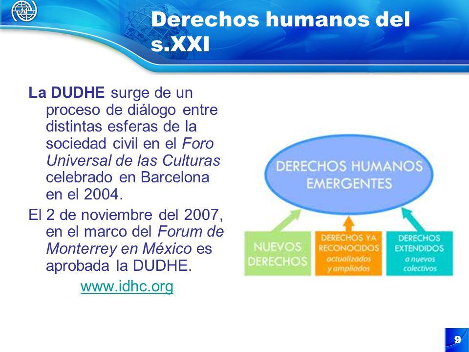 Derechos humanos del s.XXI