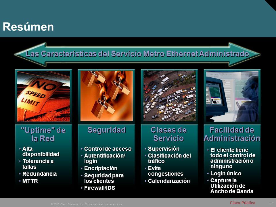 Resúmen Las Características del Servicio Metro Ethernet Administrado