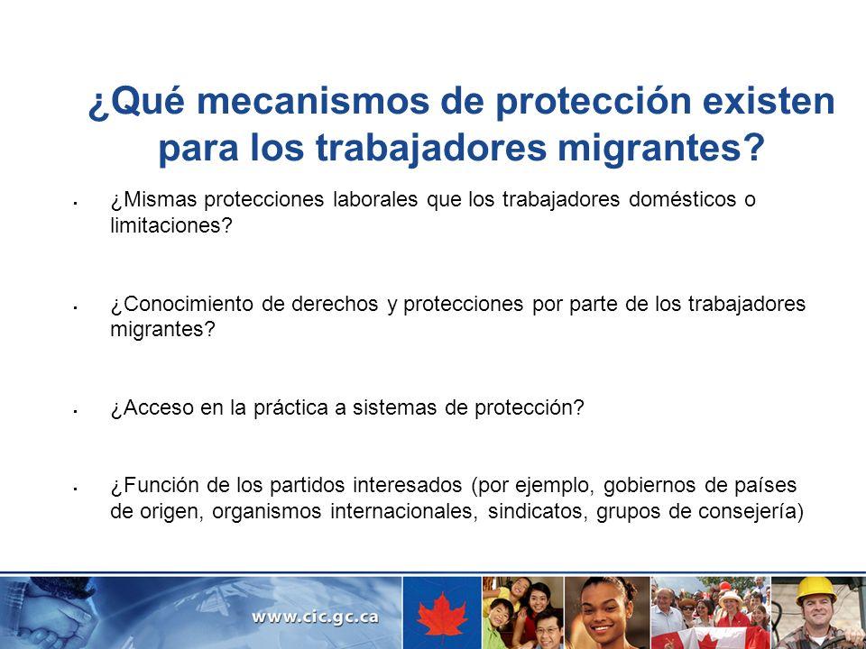 ¿Qué mecanismos de protección existen para los trabajadores migrantes