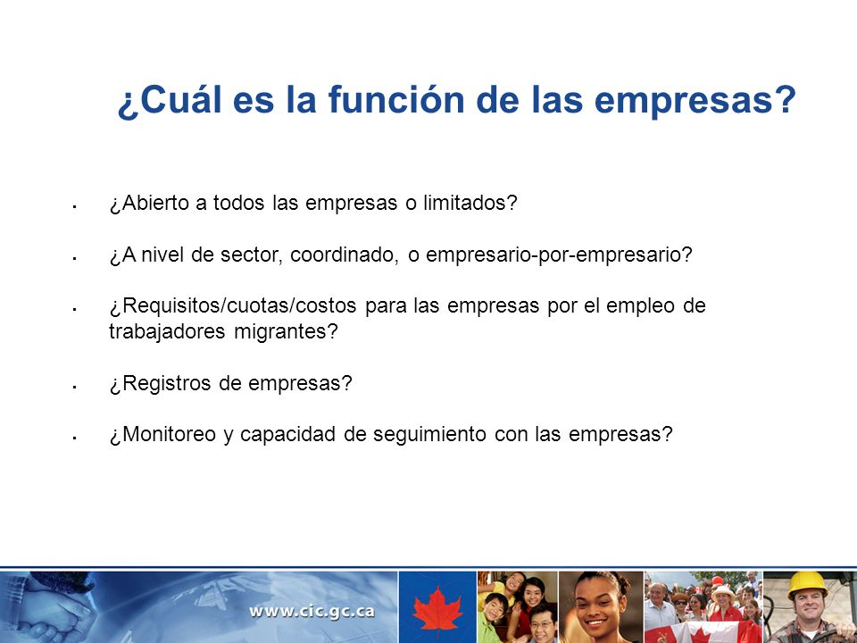 ¿Cuál es la función de las empresas