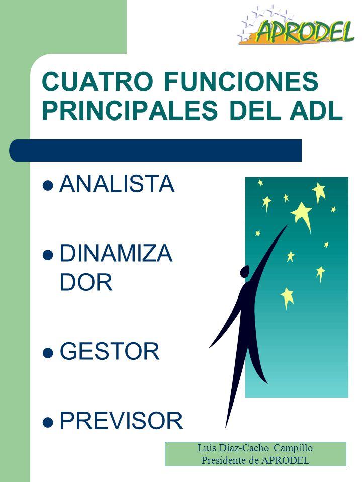 CUATRO FUNCIONES PRINCIPALES DEL ADL