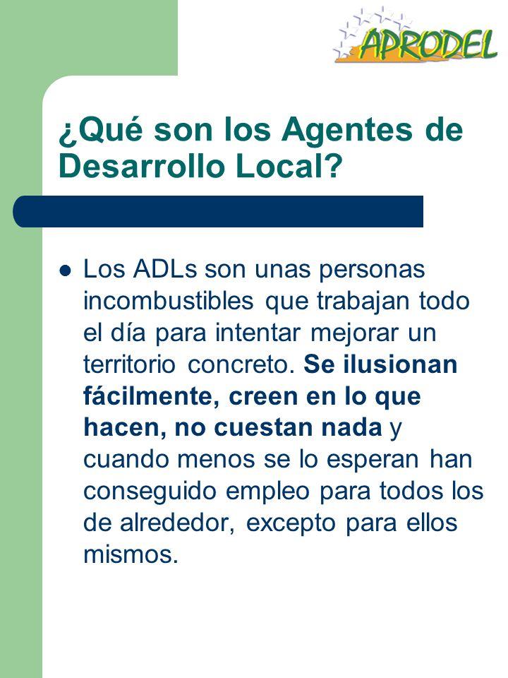 ¿Qué son los Agentes de Desarrollo Local