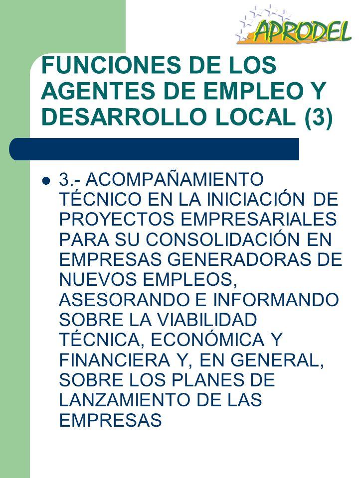 FUNCIONES DE LOS AGENTES DE EMPLEO Y DESARROLLO LOCAL (3)