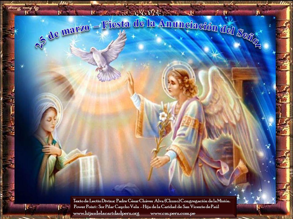 25 de marzo – Fiesta de la Anunciación del Señor