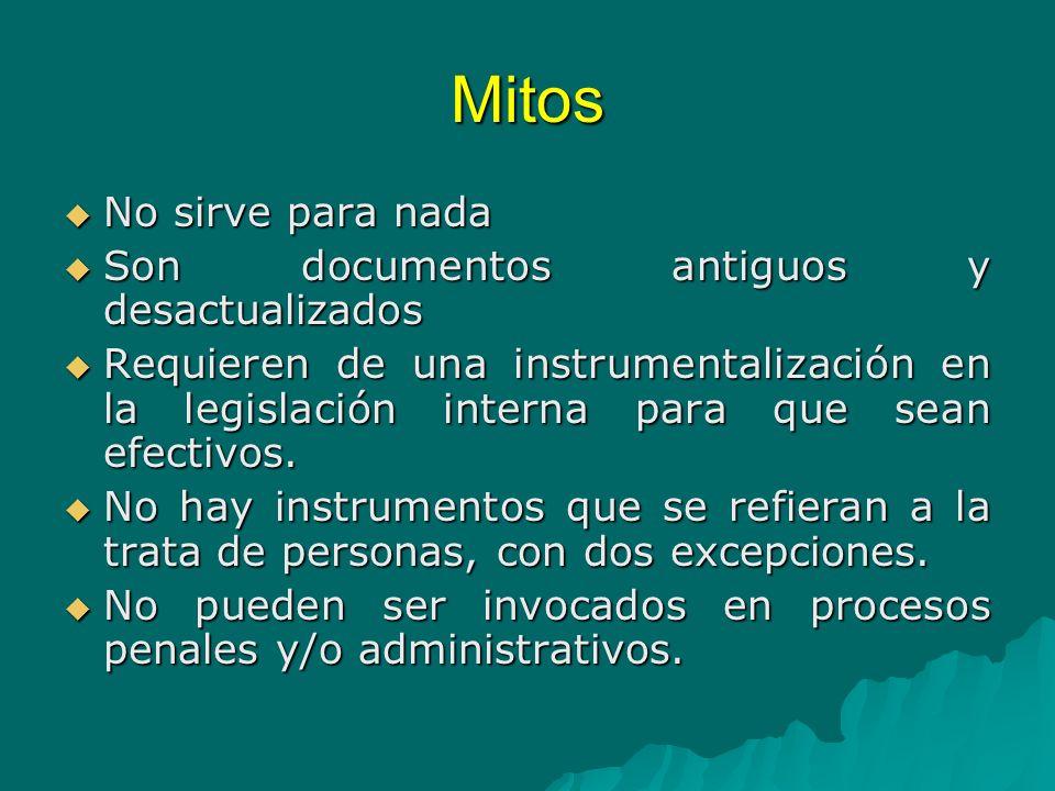 Mitos No sirve para nada Son documentos antiguos y desactualizados