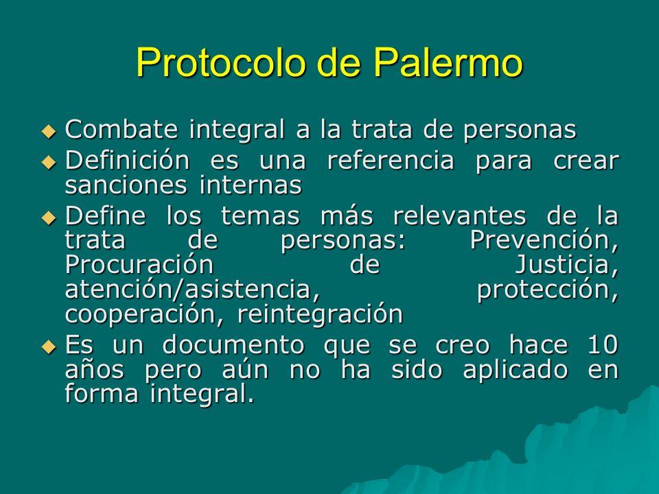 Protocolo de Palermo Combate integral a la trata de personas