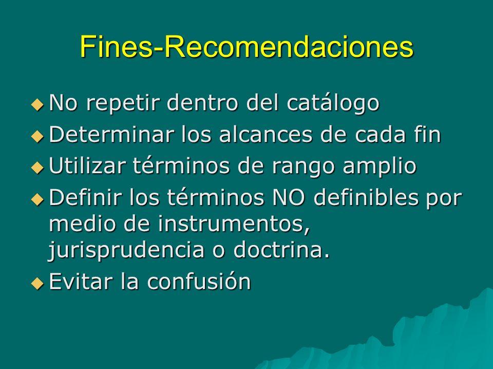Fines-Recomendaciones