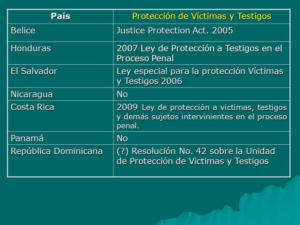 Protección de Víctimas y Testigos