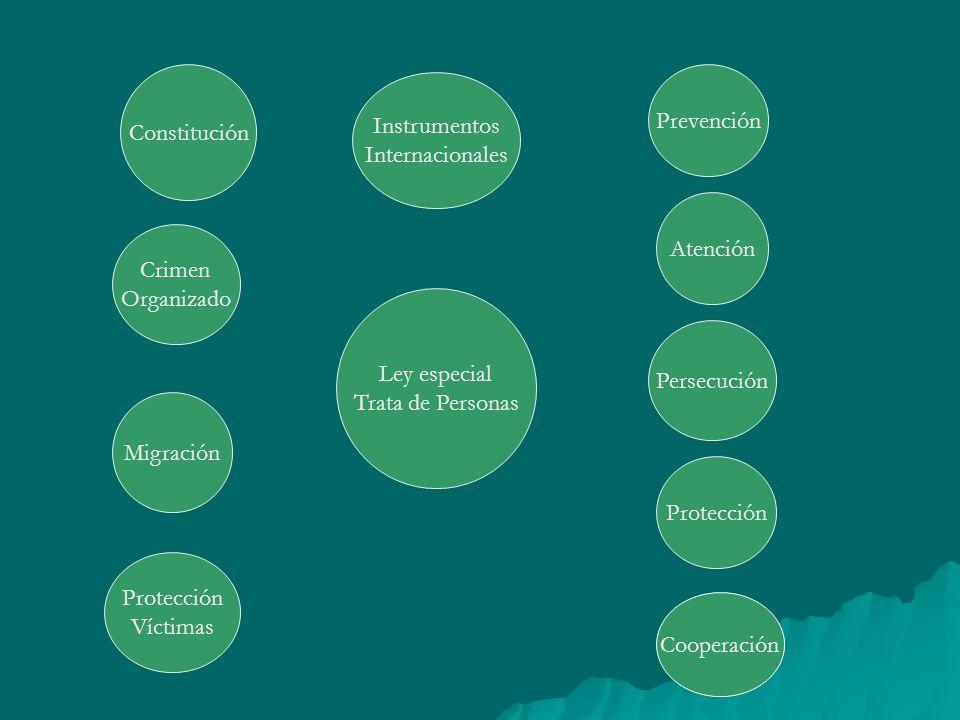 Constitución Prevención. Instrumentos. Internacionales. Atención. Crimen. Organizado. Ley especial.