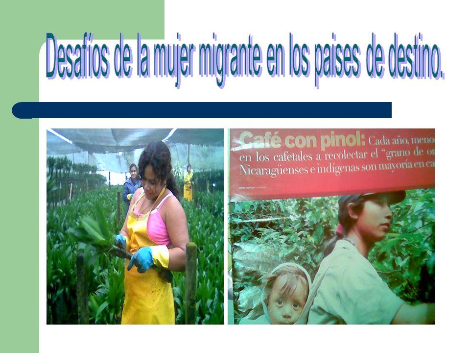Desafíos de la mujer migrante en los paises de destino.