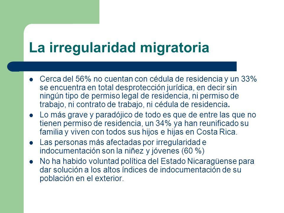 La irregularidad migratoria