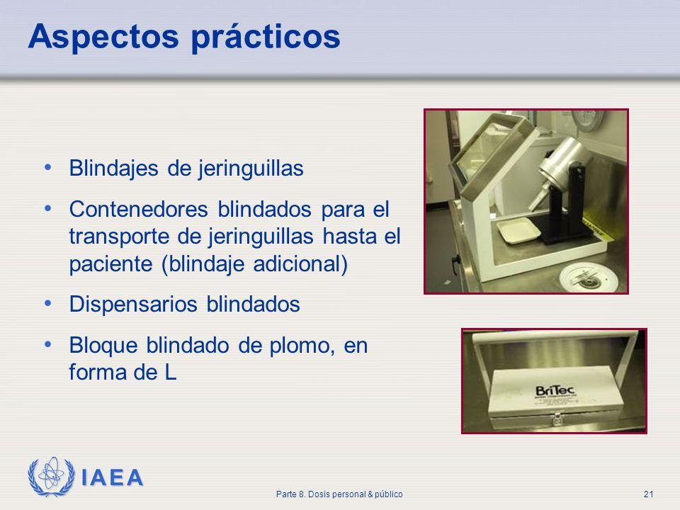 Aspectos prácticos Blindajes de jeringuillas