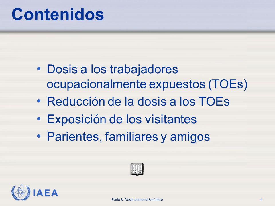 Contenidos Dosis a los trabajadores ocupacionalmente expuestos (TOEs)