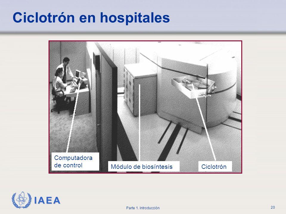 Ciclotrón en hospitales