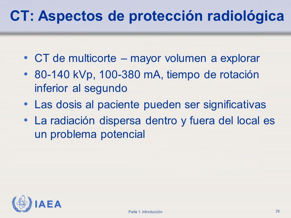 CT: Aspectos de protección radiológica