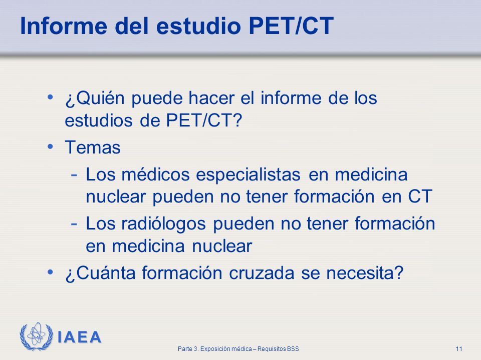 Informe del estudio PET/CT