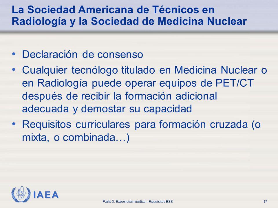 La Sociedad Americana de Técnicos en Radiología y la Sociedad de Medicina Nuclear