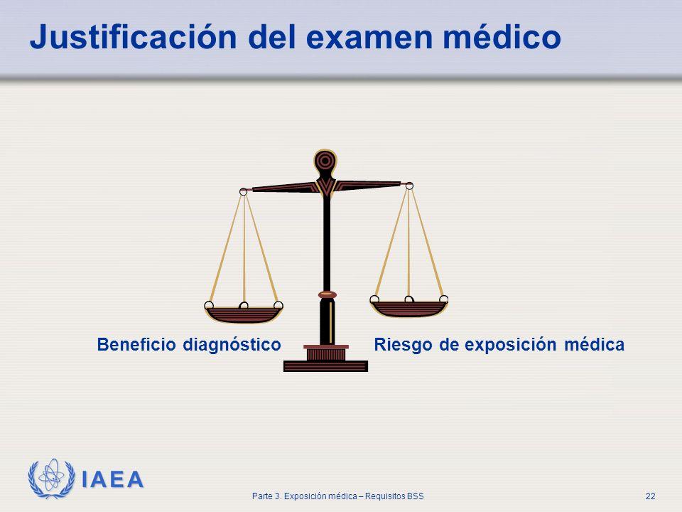Justificación del examen médico