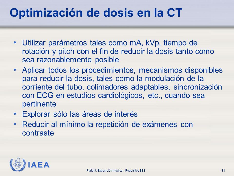 Optimización de dosis en la CT