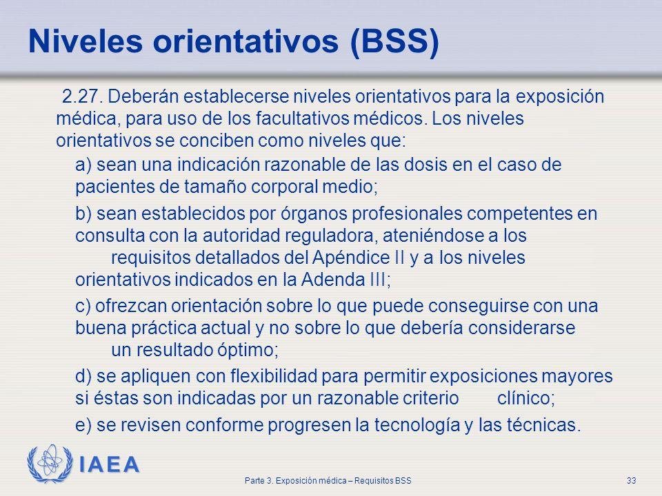 Niveles orientativos (BSS)