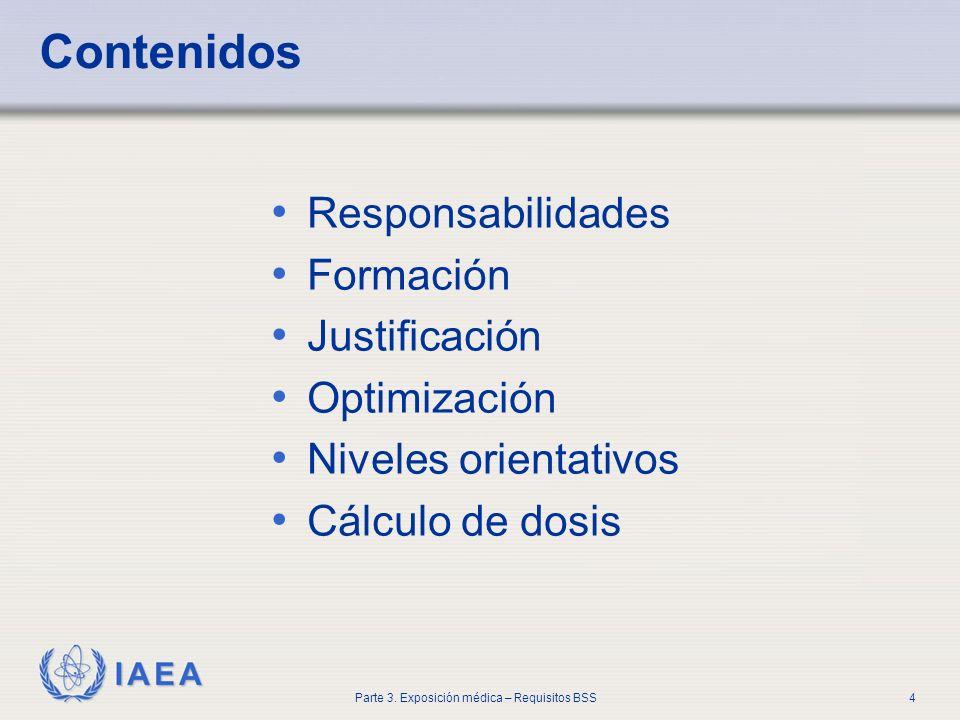 Contenidos Responsabilidades Formación Justificación Optimización