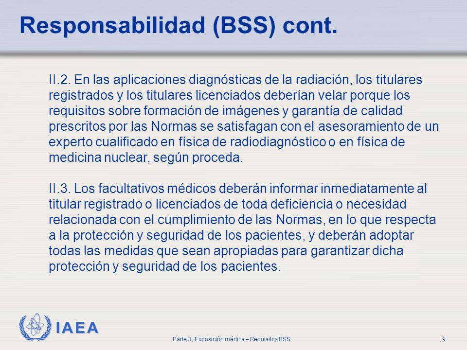 Responsabilidad (BSS) cont.