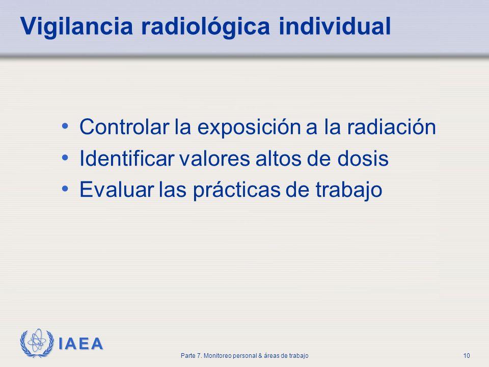 Vigilancia radiológica individual