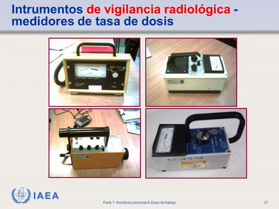 Intrumentos de vigilancia radiológica - medidores de tasa de dosis