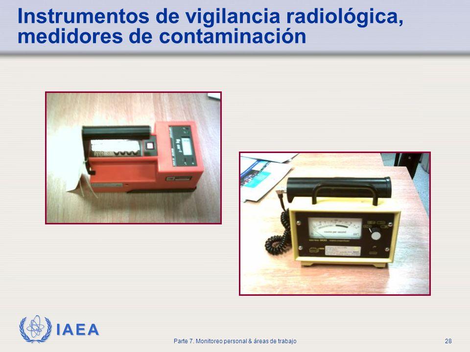 Instrumentos de vigilancia radiológica, medidores de contaminación