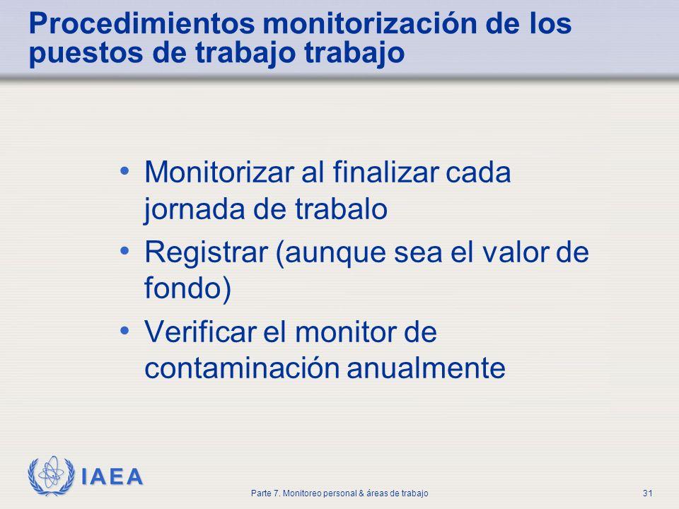Procedimientos monitorización de los puestos de trabajo trabajo