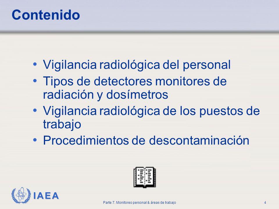 Contenido Vigilancia radiológica del personal