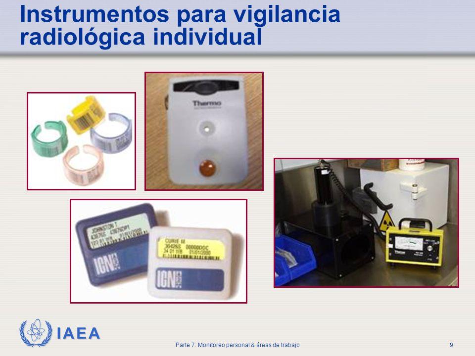 Instrumentos para vigilancia radiológica individual