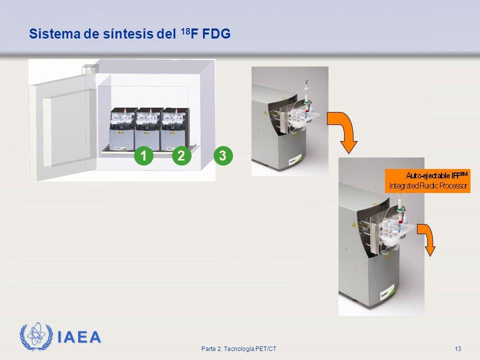 Sistema de síntesis del 18F FDG