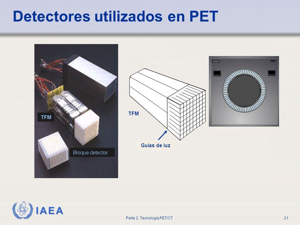 Detectores utilizados en PET