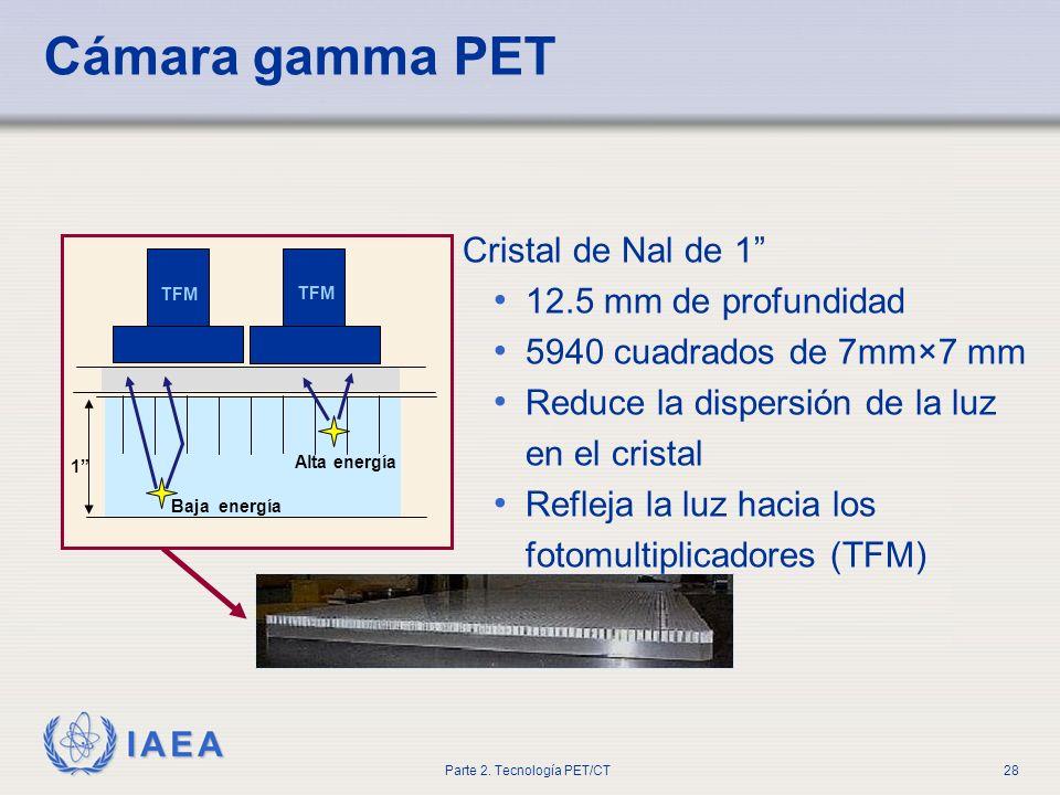 Cámara gamma PET Cristal de Nal de 1 12.5 mm de profundidad
