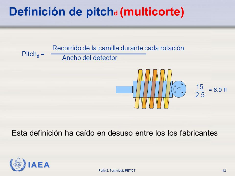 Definición de pitchd (multicorte)