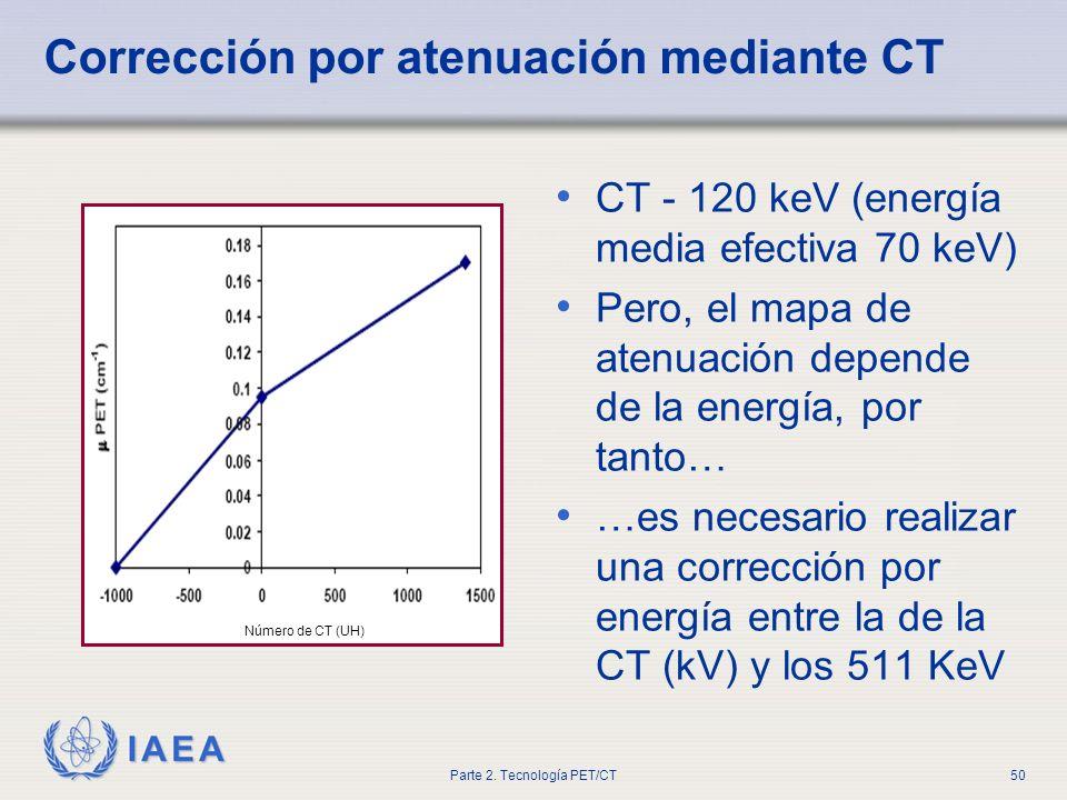 Corrección por atenuación mediante CT