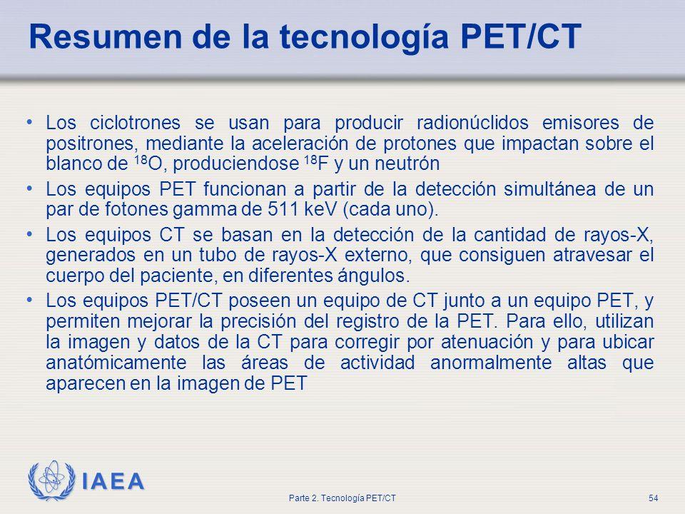 Resumen de la tecnología PET/CT