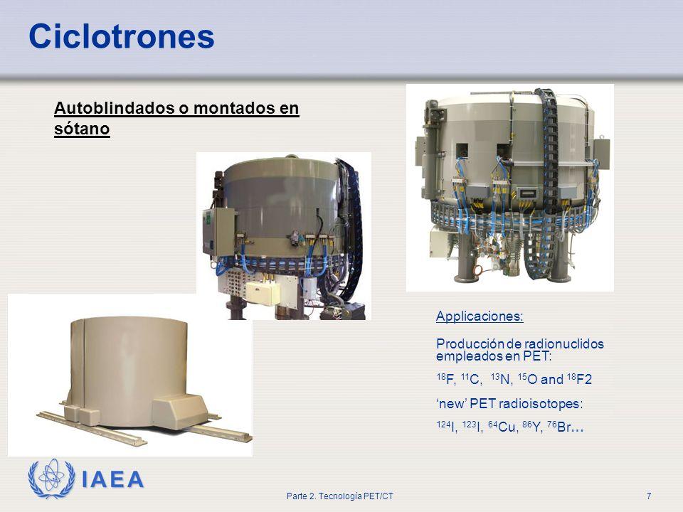 Ciclotrones Autoblindados o montados en sótano Applicaciones: