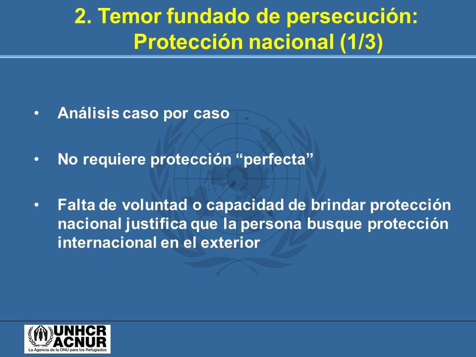2. Temor fundado de persecución: Protección nacional (1/3)