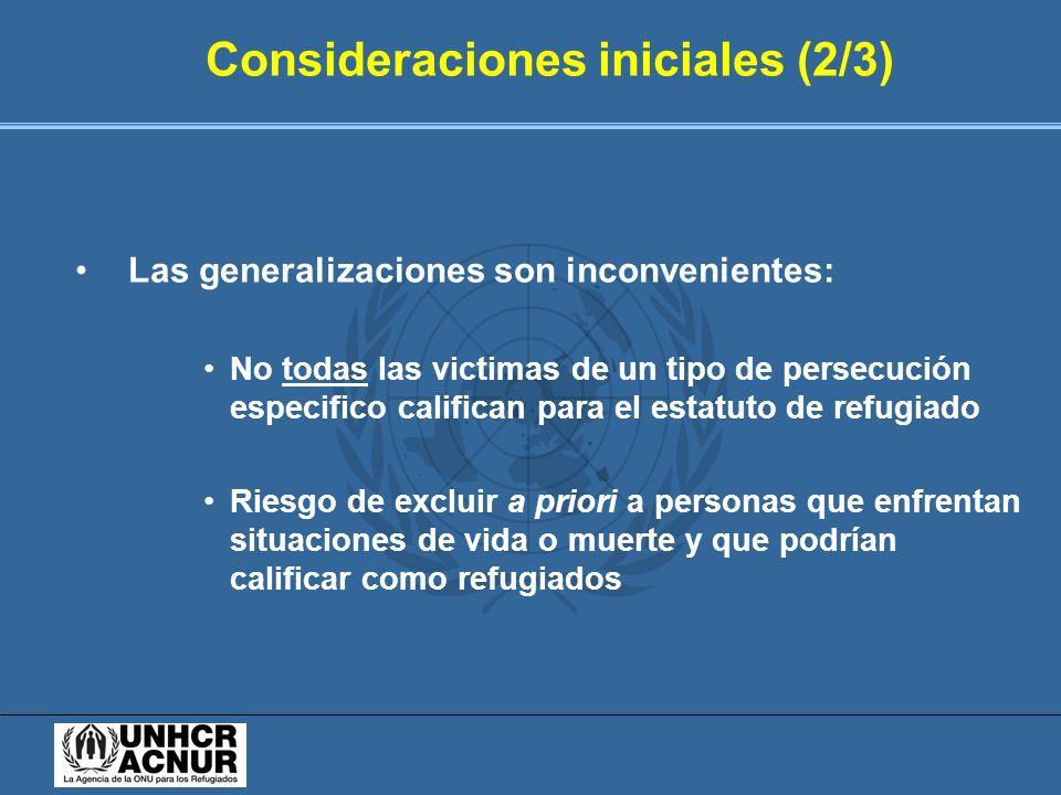 Consideraciones iniciales (2/3)