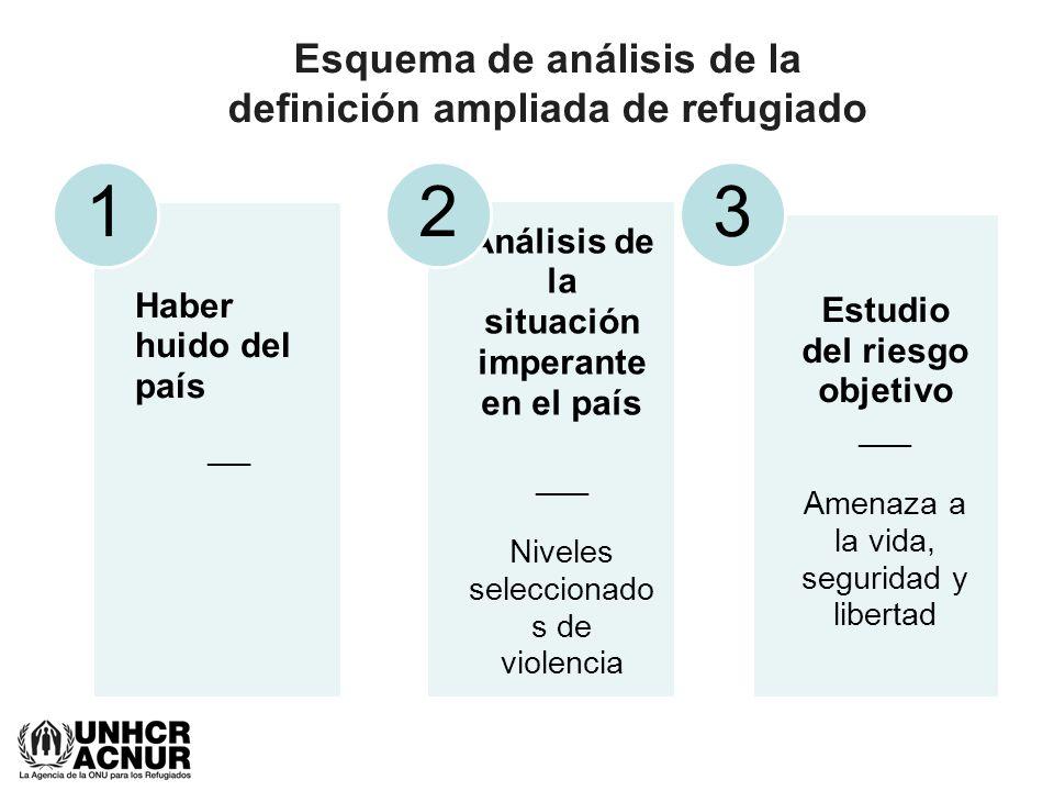 Esquema de análisis de la definición ampliada de refugiado