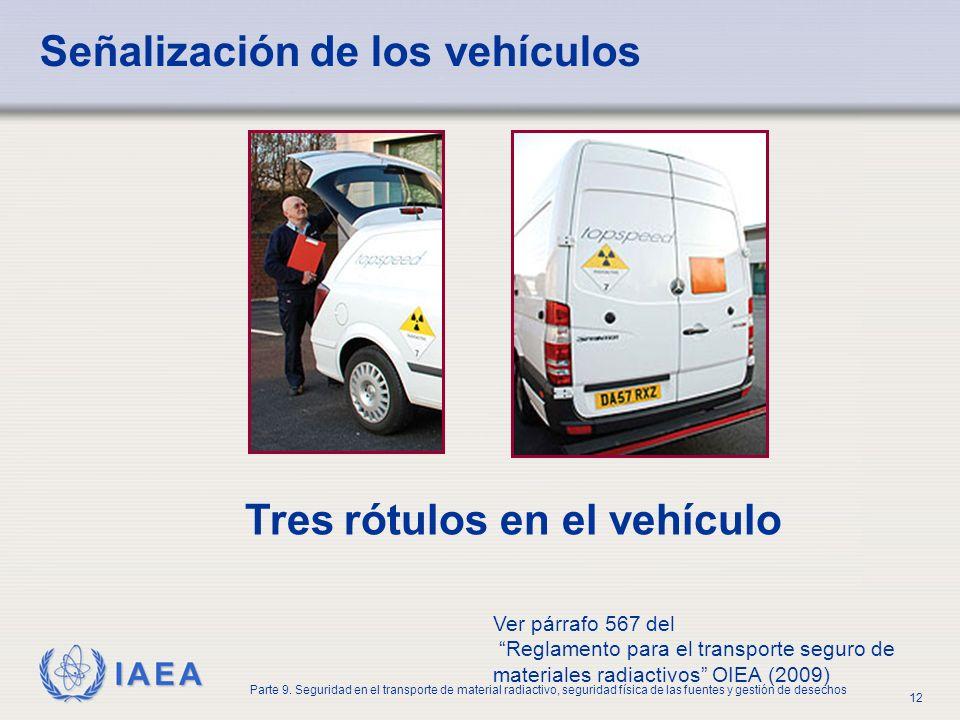 Señalización de los vehículos