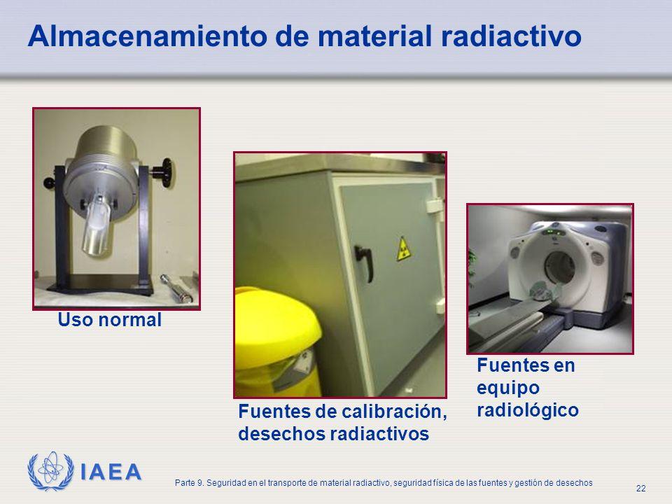 Almacenamiento de material radiactivo
